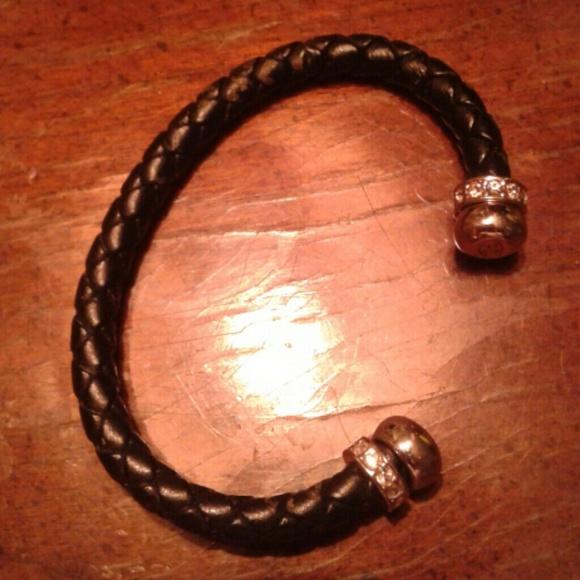 Premier Designs Jewelry - Premier Design blk. Leather cuff bracelet markedPD